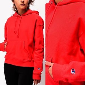 Champion Reverse Weave Red Pullover Hoodie